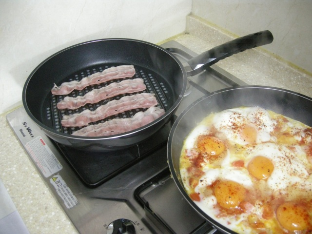 shakshouka and bacon